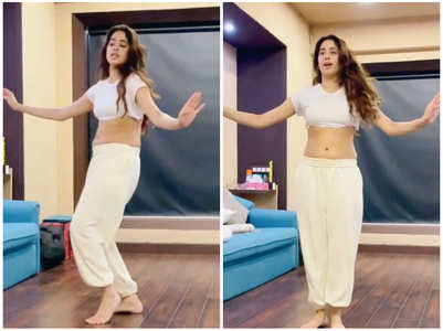 Janhvi gives a glimpse of her dance session