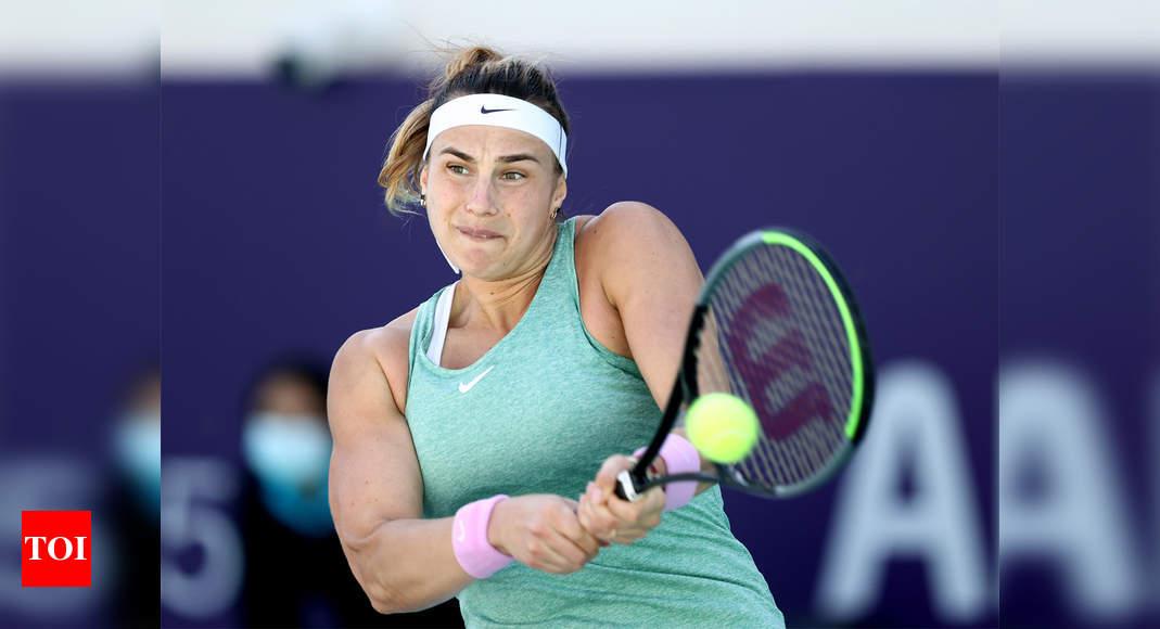 Aryna Sabalenka extends win streak to 14 in reaching Abu