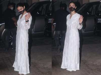 Photos: Alia Bhatt visits Bhansali's office