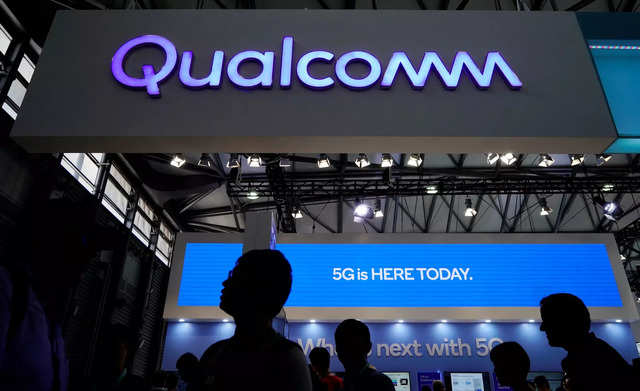 A Qualcomm sign is pictured at the Mobile World Congress in Shanghai, China June 28, 2019. REUTERS/Aly Song/File Photo