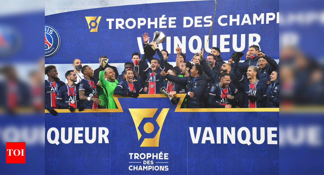 Neymar on the spot as PSG clinch French Super Cup against Marseille   Football News – Times of India