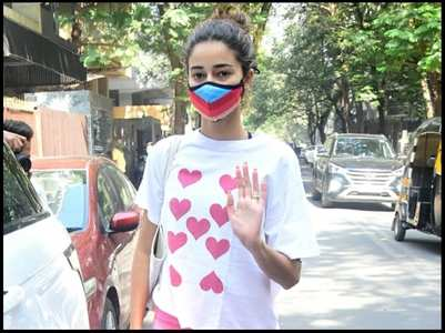 Pics: Ananya Panday attends a yoga class