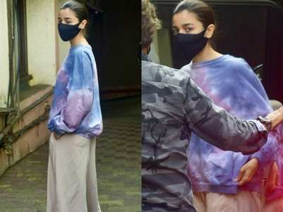 Alia Bhatt gets papped at a film studio
