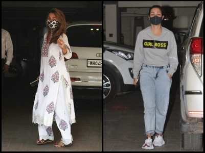 Amrita-Malaika Arora visit mom-to-be Kareena