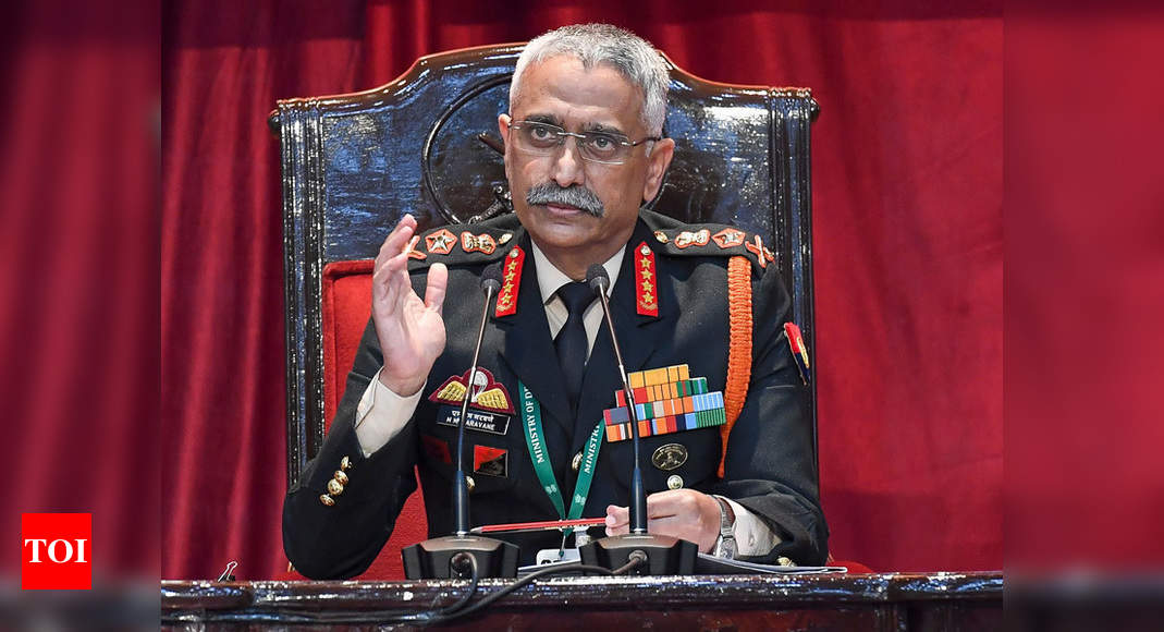 Will stand firm against any attempt to 'unilaterally' change status quo: Army chief | India News – Times of India