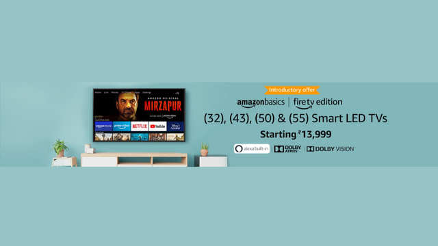 Amazon launches smartTVs in India, price starts at Rs 13,999