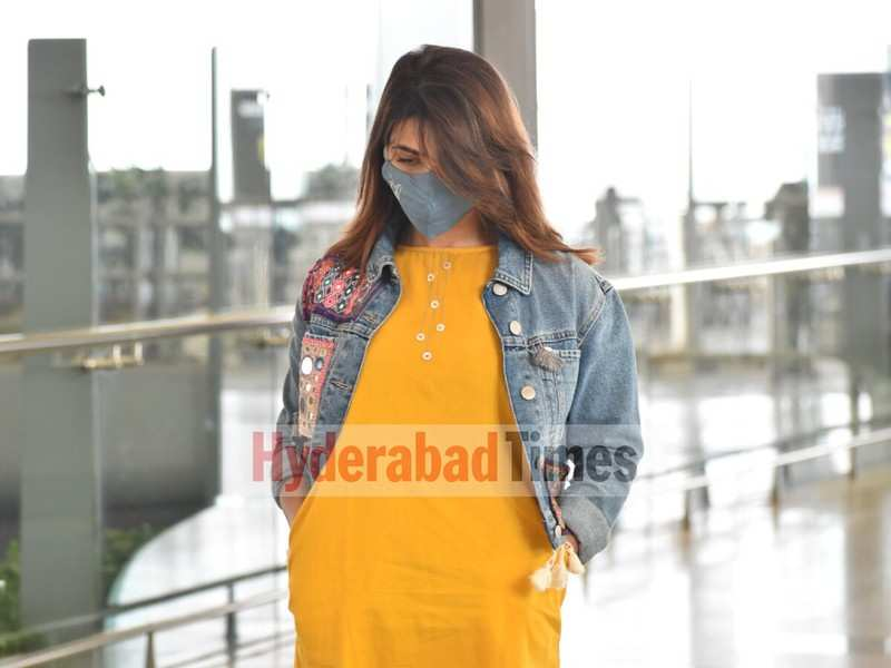 Spotted: Samantha Akkineni looks stunning in a yellow dress and denim jacket