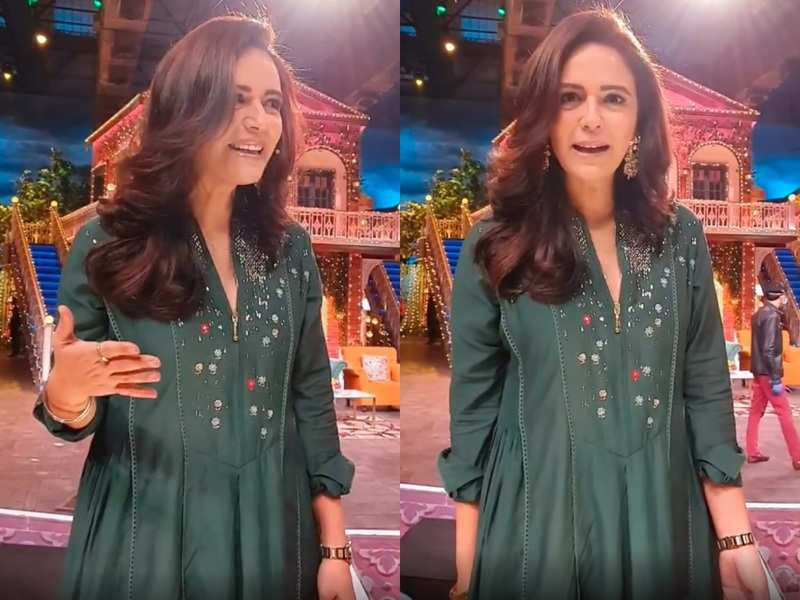 Mona Singh reacts to completing a year of marriage with husband Shyam Gopalan on Kapil's show; watch video