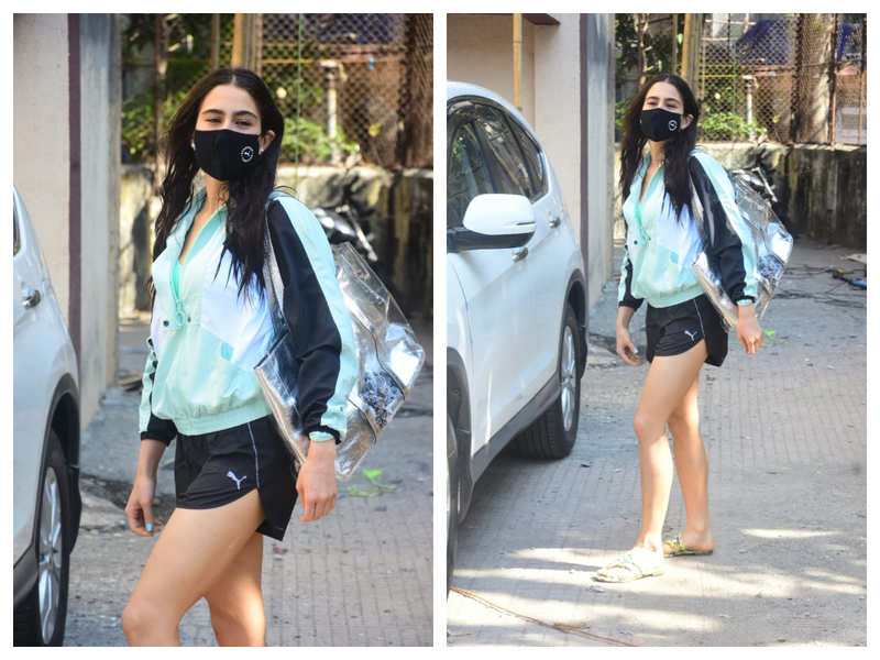 Photos: Sara Ali Khan gets snapped by the paparazzi outside a gym in the city