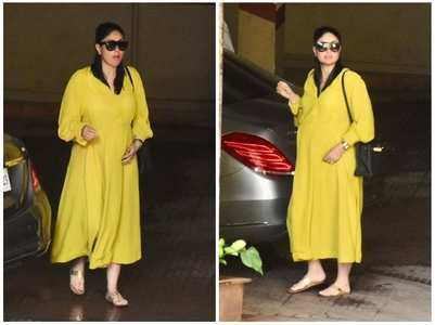 Mom-to-be Kareena stuns in a yellow outfit