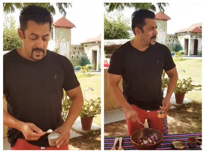 Watch: Salman makes instant raw onion pickle