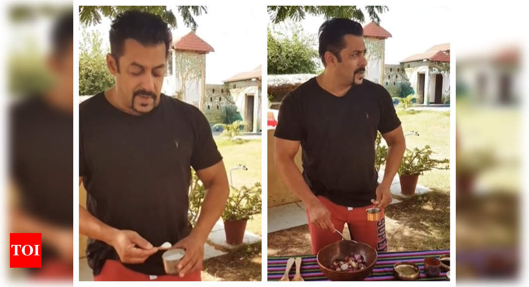 Watch: Salman Khan's instant raw onion pickle recipe is a must-try! – Times of India