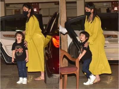 Photos: Kareena spotted with son Taimur