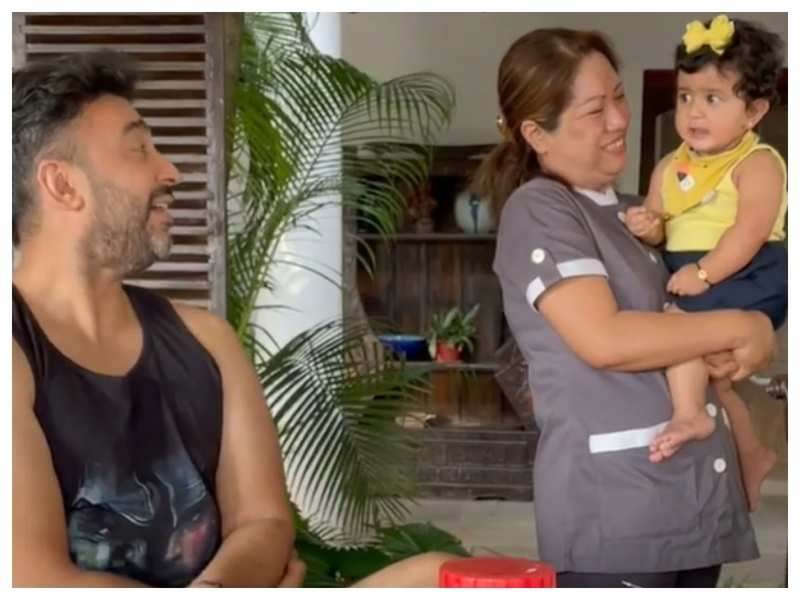 Shilpa Shetty's husband Raj Kundra shares a cute video of their little daughter Samisha; sure to melt your heart