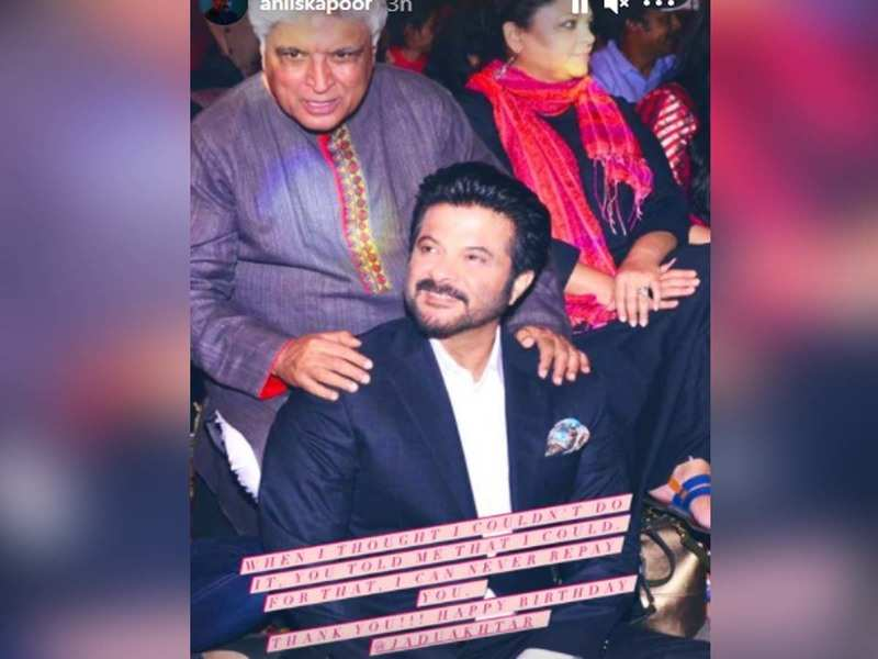 Anil Kapoor shares a heartfelt note for Javed Akhtar on his birthday; view post