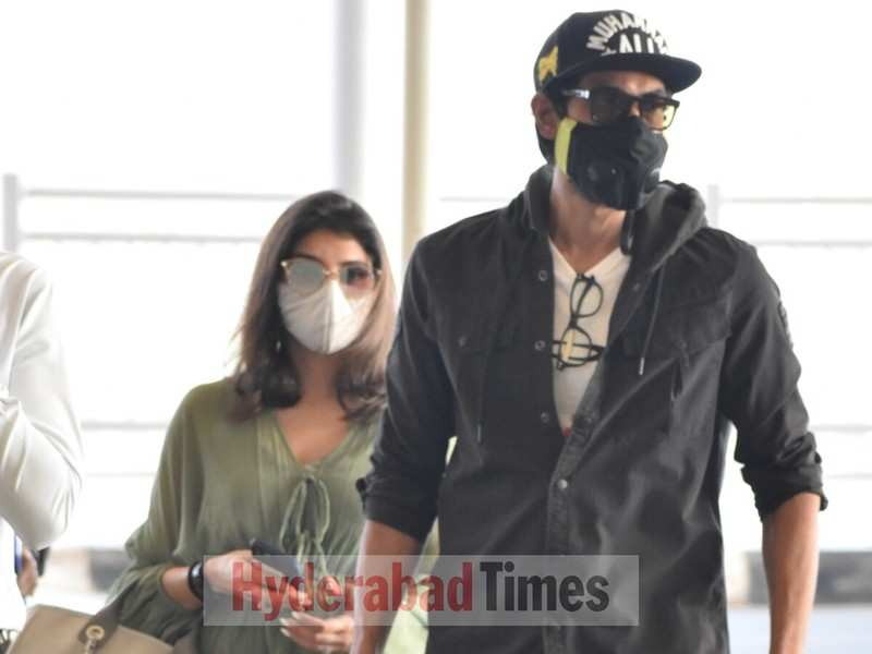 Spotted: Rana Daggubati and Miheeka Bajaj are couple goals as they get clicked at Hyderabad Airport