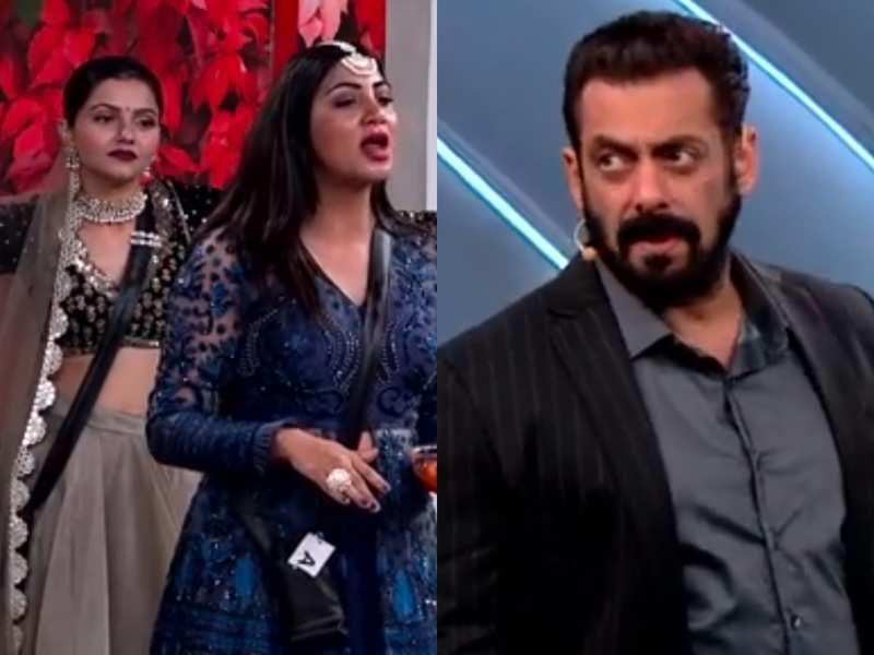 Bigg Boss 14: Salman Khan calls Rubina Dilaik 'unsporting' after she spits mirchi ka ladoo put in her mouth by Arshi Khan