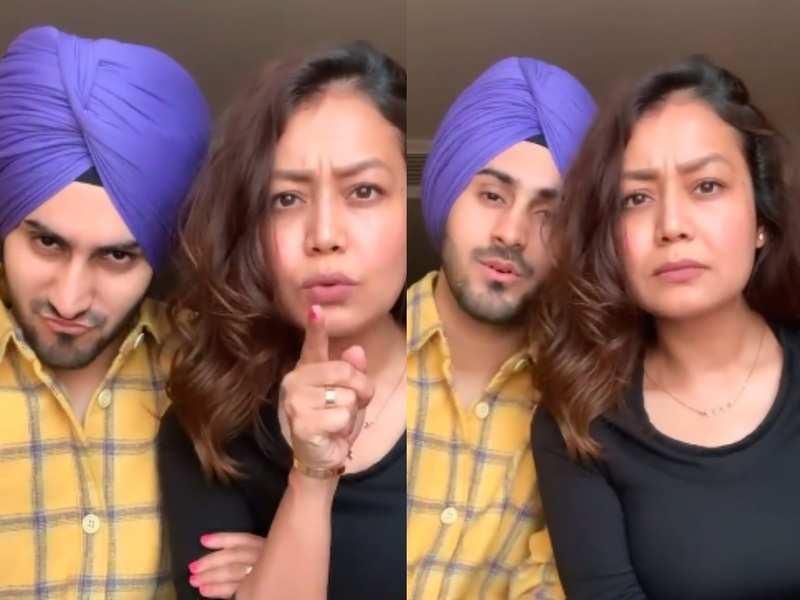 Neha Kakkar warns husband Rohanpreet Singh's ex-girlfriends not to call him; watch the fun video