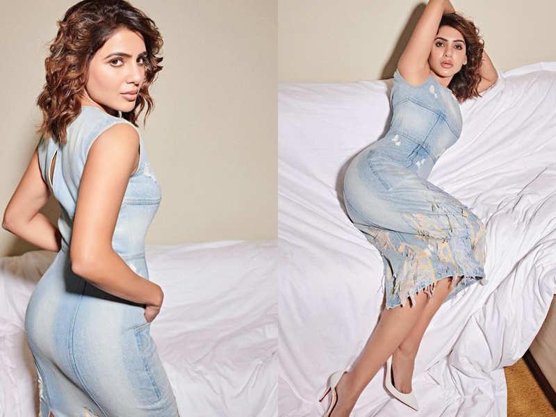 Samantha Akkineni's denim dress with a back slit is so stylish