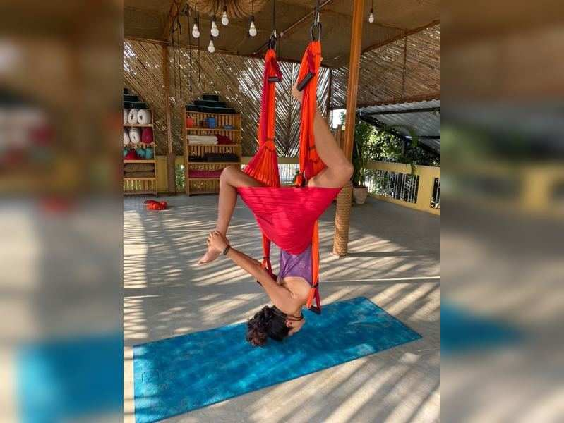 Amala Paul shares video of her doing trapeze yoga
