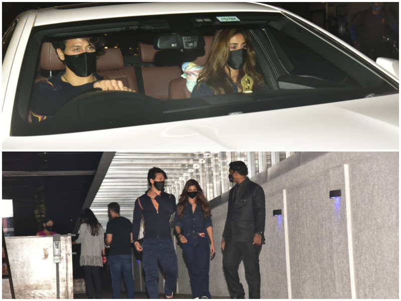Disha Patani and Tiger Shroff keep it stylish as they get spotted together in the city