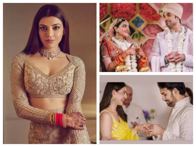 Kajal Agarwal shares UNSEEN pictures from her wedding album with her fans on Instagram