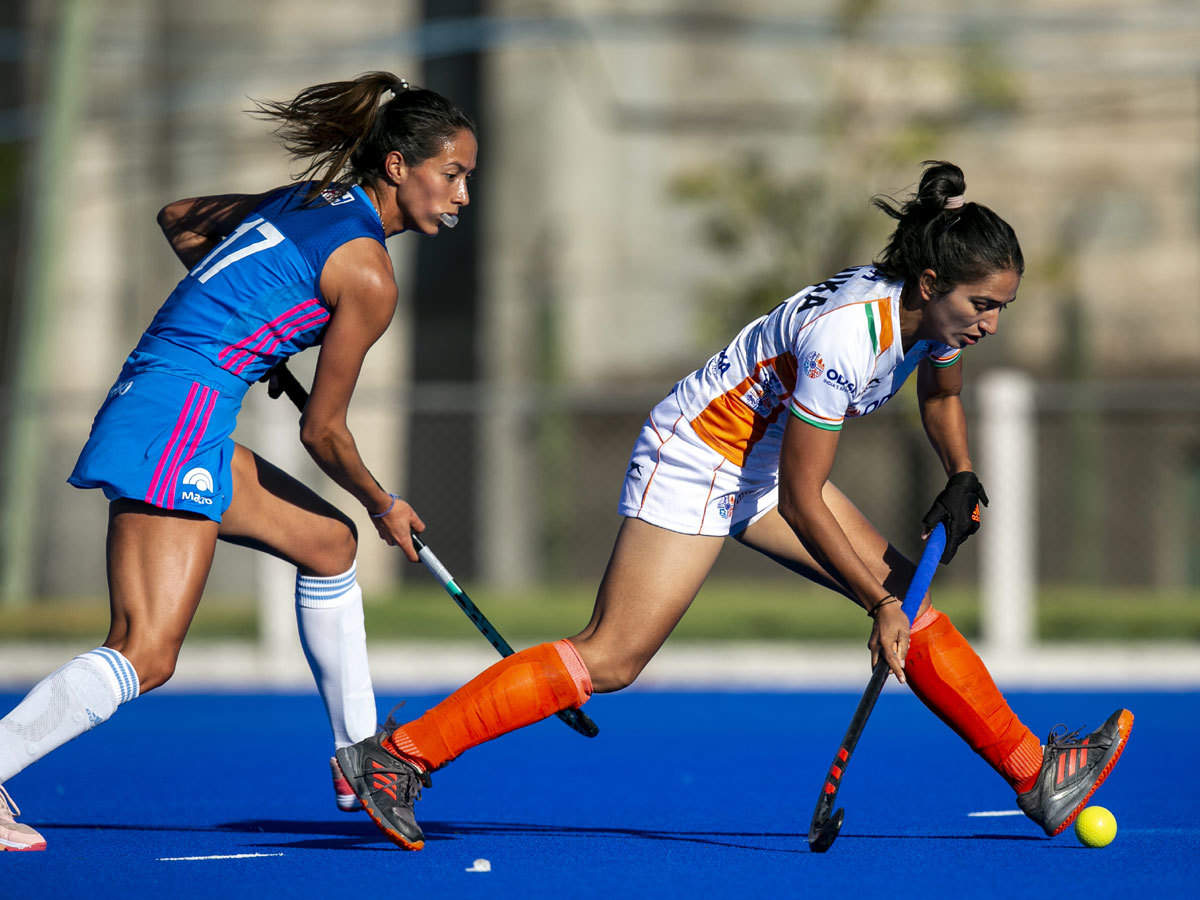Indian women's hockey team draw 2-2 with Argentina junior women   Hockey  News - Times of India
