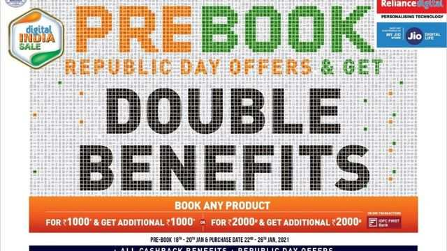 Reliance Digital announces pre-book offers Republic Day sale