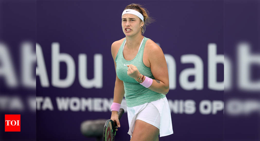 Sabalenka reaches career-high world no. 7 after third straight title - Times of India