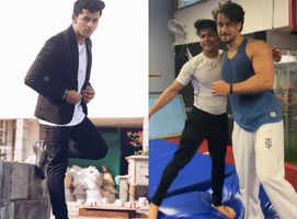 Siddharth practises backflip with Tiger