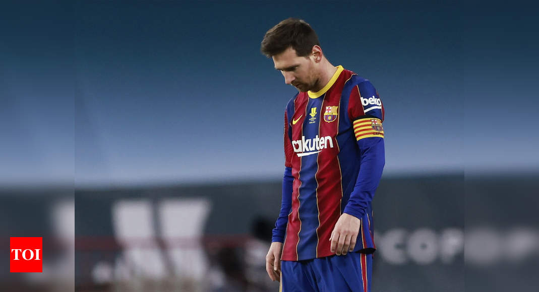 Messi facing lengthy suspension for hitting opponent | Football News – Times of India