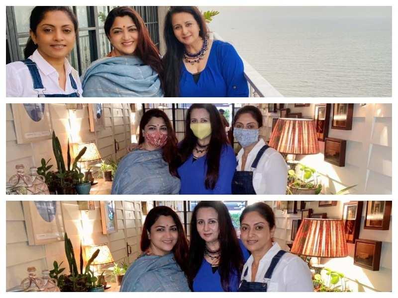 Nadiya, Khushbu and Poonam catch up in Mumbai