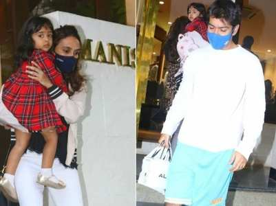 Varun's family papped outside designer store