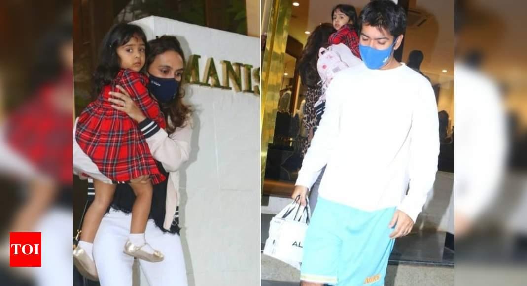 Varun's family papped outside designer store