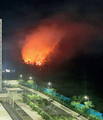 Hinjawadi residents frustrated by fire at local body's illegal trash dumping site