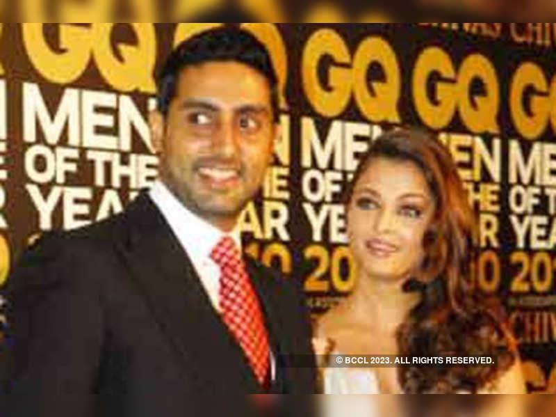 "Abhishek and Aishwarya Rai Bachchan <a href=""http://photogallery.indiatimes.com/portfoliolist/3879167.cms.cms"" target=""_blank"">More Pics</a>"