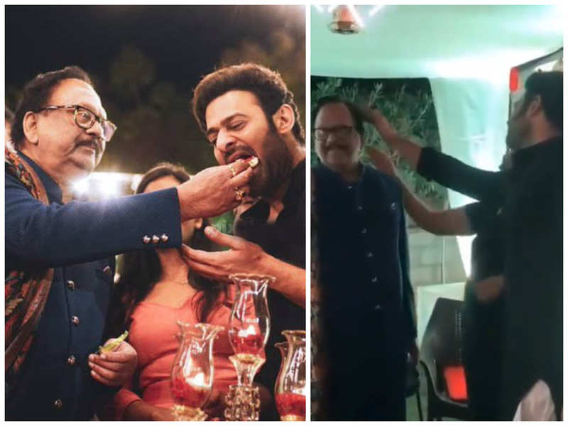 Prabhas and Krishnam Raju are adorable together in this throwback fans share on the latter's birthday
