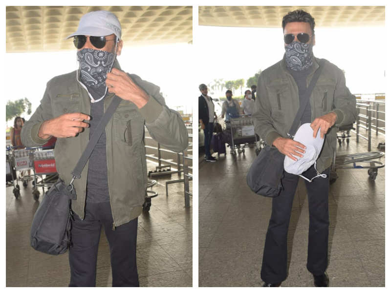 Photos: Jackie Shroff steps out in style as he gets snapped by the paparazzi at the airport
