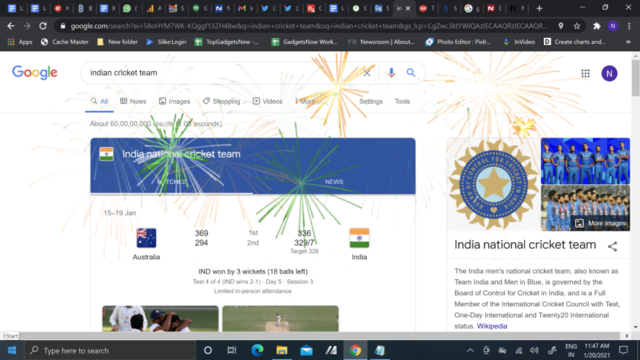 This is how Google is celebrating Indian Cricket team's victory