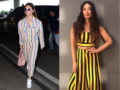 Bollywood beauties step out in style in pretty striped co-ord sets