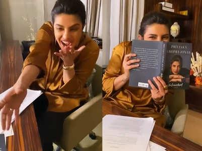 Priyanka receives first copy of her memoir