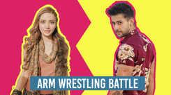 Kateelal & Sons' Jiya Shankar and Paras Arora get into a fun-filled arm wrestling battle
