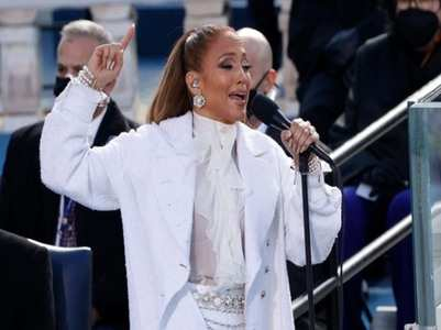 Jennifer performs at Biden's inauguration