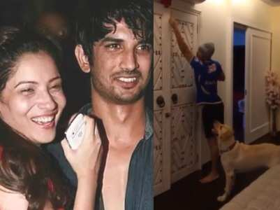 Ankita shares video of SSR with his pet