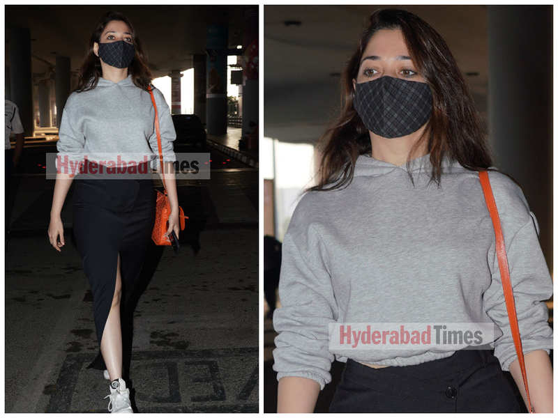 Spotted: Tamannaah Bhatia is total style inspo in a thigh-high slit skirt as she gets clicked at the airport