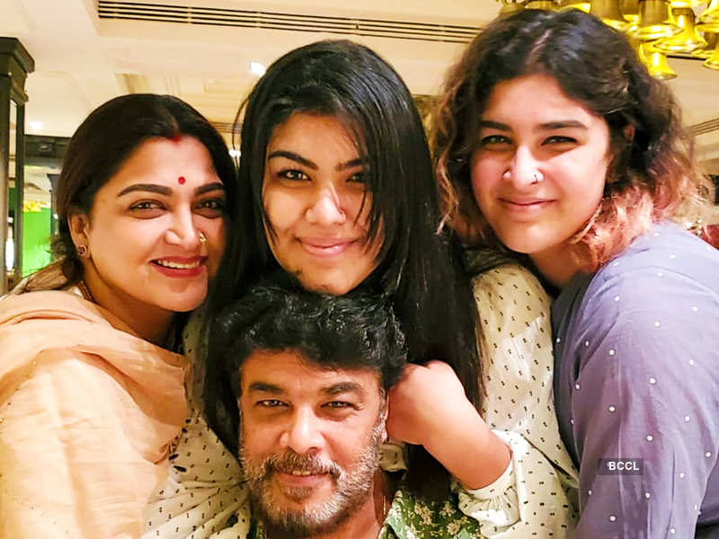 Nandini fame Khushbu celebrates husband Sundar C's birthday; shares an emotional note (Photo - Twitter)