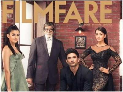 SSR on Filmfare cover with Alia-Ash-Big B