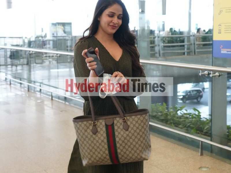 Spotted: Lavanya Tripathi is all smiles in an emerald breezy dress as she arrives at the airport