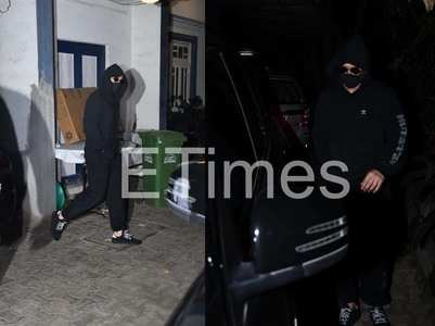 Photos: Ranveer gets into dark knight mode