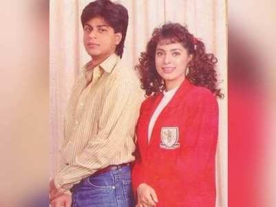 Juhi shares a throwback picture with SRK